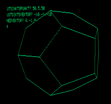 Dodecahedron 3D projection